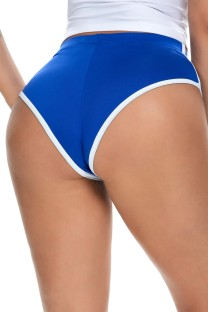 Summer Blue White edge Tight Fitting Sprots panties