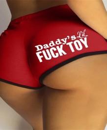 Летние сексуальные красные спортивные шорты с буквенным принтом