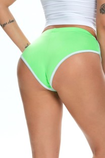 Summer Green White edge Tight Fitting Sprots panties