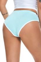 Culotte d'été LT-bleu Bord blanc Tight Fitting Sprots