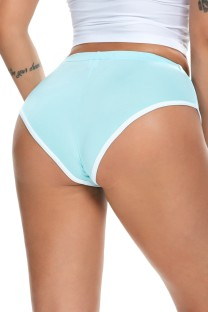 Summer LT-blue White edge Tight Fitting Sprots panties