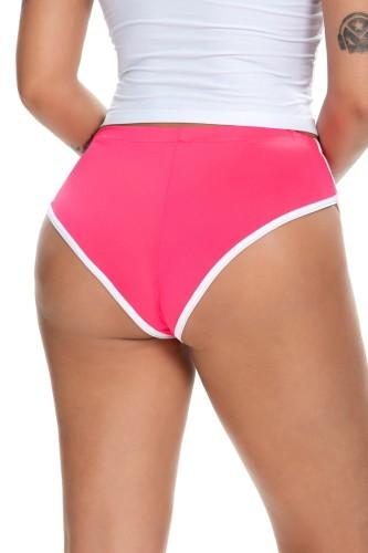 Culotte Sprots ajustée à bords blancs rose d'été