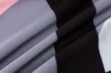 Yaz Renkli Pembe Siyah Beyaz Çizgili Pantolon