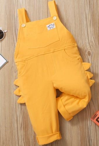 Baby Mädchen Herbst Gelbe Hosenträgerhose