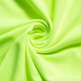 Sommerfest Sexy Grünes ärmelloses Midikleid mit Ausschnitten
