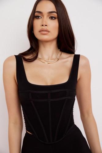 Colete Bustier Formal Summer Black Vintage