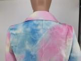 Herbst Professional Tie Dye Büro Langer Blazer