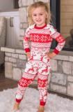 Zweiteiliges Hosen-Pyjama-Set mit Weihnachtsdruck für Kinder