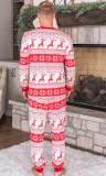 Zweiteiliges Hosen-Pyjama-Set für die Familie mit Weihnachtsdruck für Papa