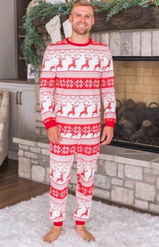 クリスマスプリントファミリーツーピースパンツパジャマセットパパ用