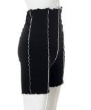 Sommer Casual Schwarz High Waist Shorts