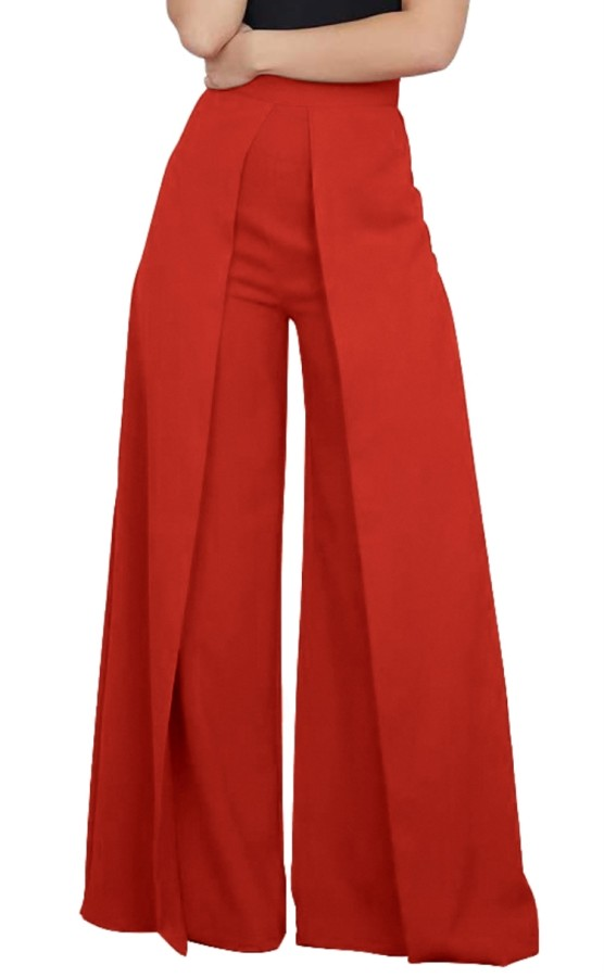 Herbst Pure Red High Waist Lose Berufshose