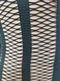 Herbst Sexy Schwarzer Reißverschluss Langarm Transparent Mesh Overall