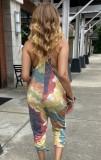Sommer Casual Tie Dye Träger Jumpsuit