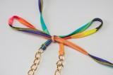 Sommer Sexy Tie Dyed Kette Langarm BH Minikleid Set