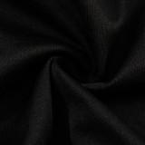Herbstliches schwarzes, gekräuseltes, eckiges Crop-Top und passende Hosen-Set