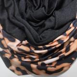 Herbst Plus Size Leopard Patchwork Langarm Rundhals Trainingsanzug
