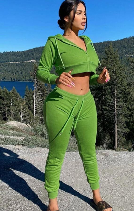 Herbst Casual Kordelzug Hoody Crop Sport Trainingsanzug