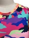 Herbst-Set aus Hemd und Hose mit Camou-Print im Farbblock-Design