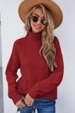 Winter Red Turndown Kragen Regular Pullover Pullover