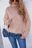 Winter Pink Turndown Kragen Regular Pullover Pullover