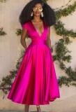 Herbst formales Rose tiefes sexy Abendkleid