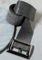 Cintura scintillante con perline grigie formale