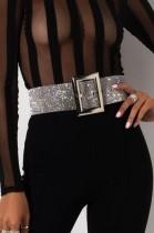 Cintura scintillante con perline d'argento formale