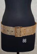Cintura scintillante con perline d'oro formale