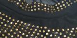Herbst Plus Size Bodycon Jumpsuit mit Perlen in Gold und Schwarz
