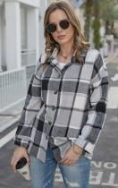 Autumn Casual Gray plaid Long Sleeve Loose Shirt