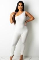 Zomer sexy witte een schouder mouwloze bandage jumpsuit