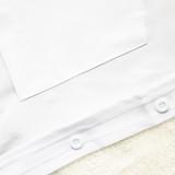 Camisa de manga larga blanca casual de otoño