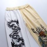 Pantalón con bandas en el tobillo con estampado informal de otoño