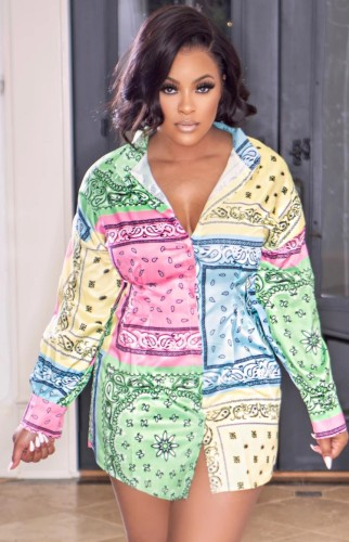 Herfst sexy retro blousejurk met contrasterende kleur