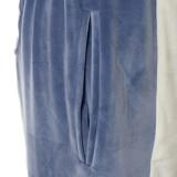 Pantalones deportivos de cintura alta con estampado de color en contraste de otoño