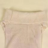 Suéter largo con abertura lateral de cuello alto de invierno