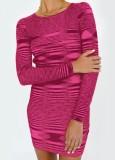 Mini vestido ajustado de punto casual de invierno
