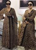Vestido largo largo con estampado elegante de otoño