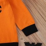 Camisa de Halloween de cuello redondo de otoño para niña de niños
