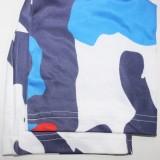 Enges, kurzes Top und Hose mit Herbst-Print, 2er-Set