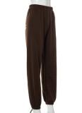 Autumn Wings pantalones deportivos marrones con cuentas
