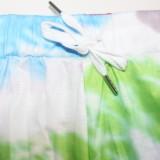 Herbstfarben Print Enge Hoodies 2pc Trainingsanzug