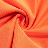 Herbst Orange High Waist Basic Leggings