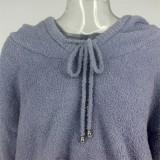 Winter Blue Fleece Hoodies Top und Hose 2er Set