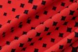 Herfst sexy set met top en mini-jurk met lange mouwen en print