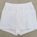 Summer Sexy White Zipper Straps Crop Top y pantalones cortos a juego de cintura alta Conjunto de dos piezas