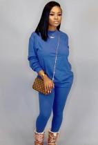 Herbst Casual Grün O-Neck Basic Hemd und Hose 2PC Loungewear
