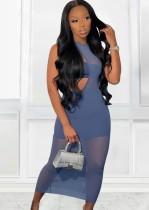 Sommerparty Blaues unregelmäßiges 3teiliges Kleiderset