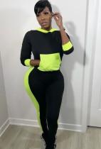 Herbst Kontrast Farbe Mit Kapuze Sexy Sweatsuit